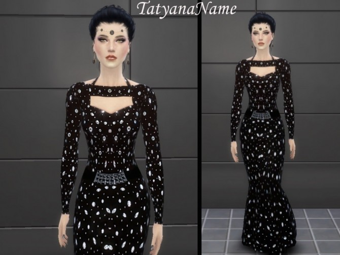Formal black gown at Tatyana Name image 107 670x503 Sims 4 Updates