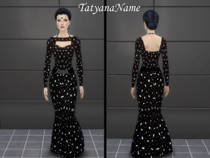 Formal black gown at Tatyana Name image 108 670x503 Sims 4 Updates