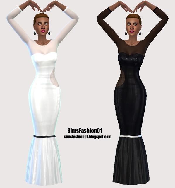 Sims 4 Long Formal Dresses at Sims Fashion01