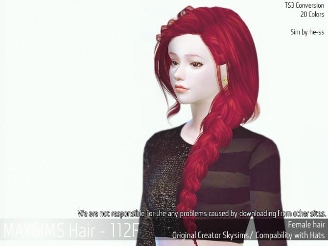 Sims 4 Hair 112F (SkySims) at May Sims