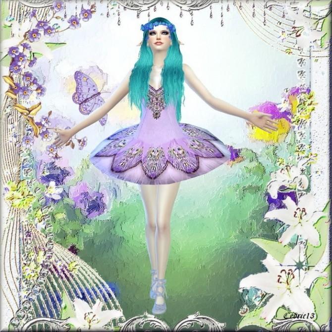 Sims 4 Reul Ghorm Blue Fairy by Cedric13 at L'univers de Nicole