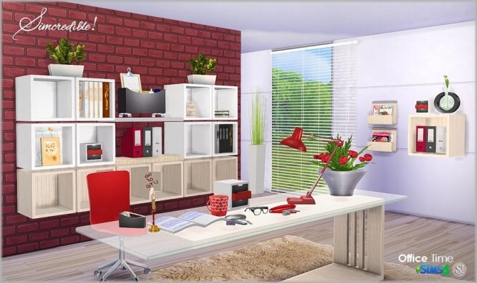Office time clutter set at SIMcredible! Designs 4 image 1089 670x397 Sims 4 Updates