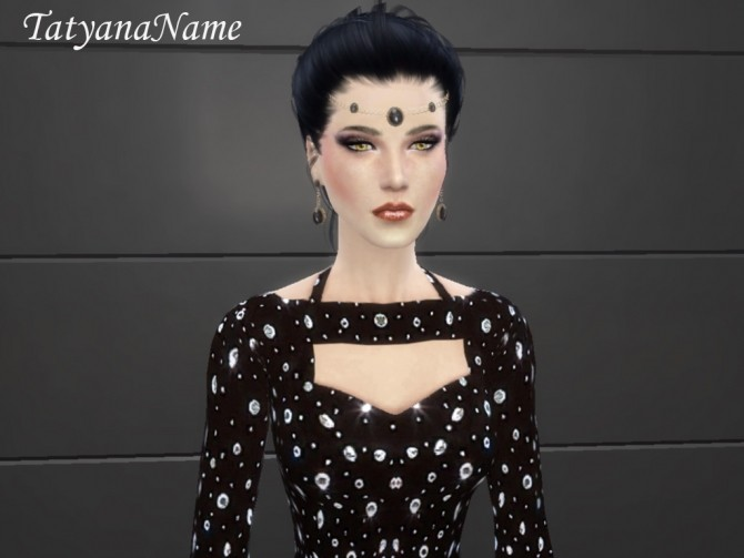 Formal black gown at Tatyana Name image 109 670x503 Sims 4 Updates