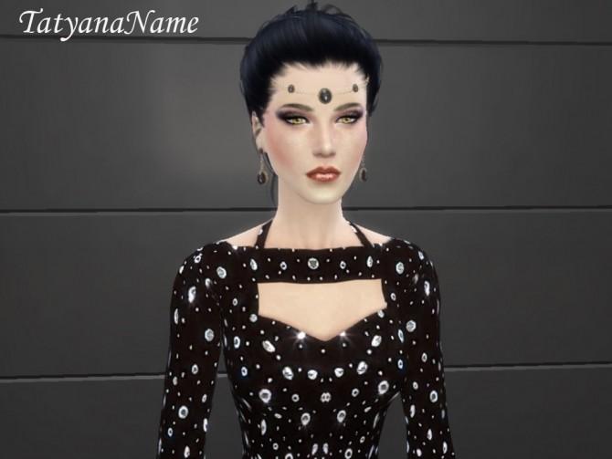 Sims 4 Formal black gown at Tatyana Name