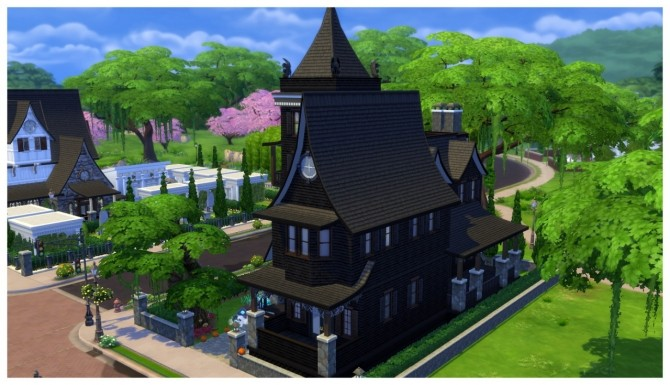 Haunted House Facade At Simdoughnut 187 Sims 4 Updates