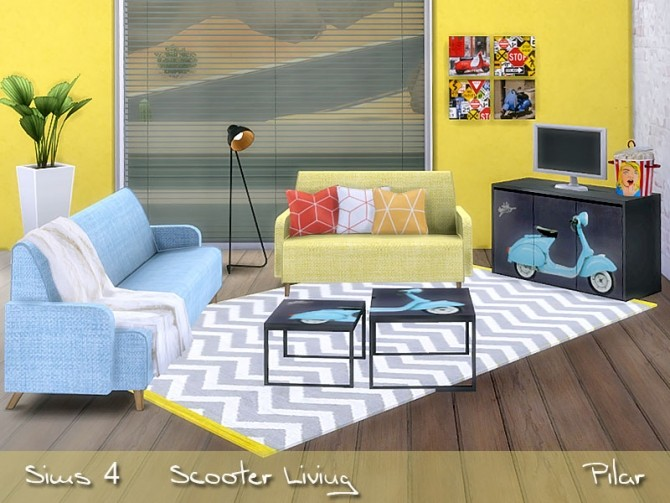 Scooter Living by Pilar at SimControl image 1096 670x503 Sims 4 Updates
