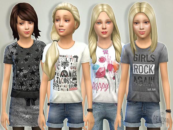 Sims 4 T  Shirt Collection GP04 by Lillka at TSR