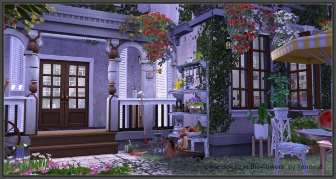 little house with flowers at tanitas8 sims » sims 4 updates