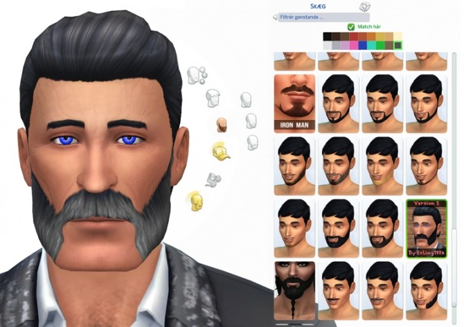 Sims 4 Friendly mutton chops by Erling1974 at Mod The Sims