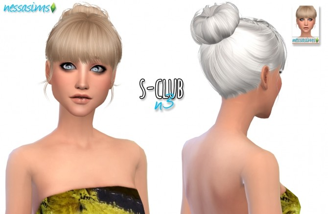 S Club N3 hair retexture at Nessa Sims image 1108 670x437 Sims 4 Updates