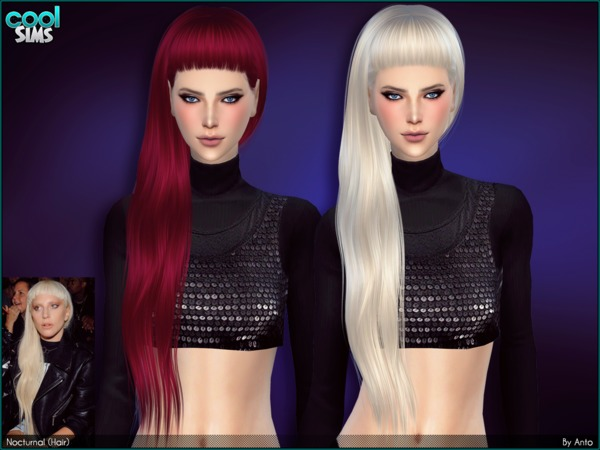 Anto Nocturnal Hair by Alesso at TSR image 1109 Sims 4 Updates