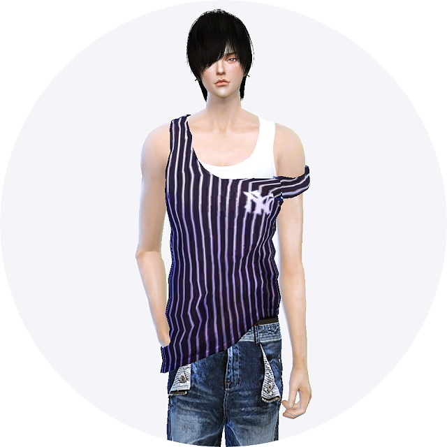 Male tank top slipping down strap at Marigold image 11110 Sims 4 Updates
