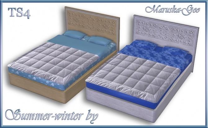Sims 4 Summer winter bedroom set at Maruska Geo