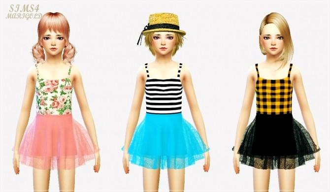 Sims 4 Child ballerina mini skirt & crop top at Marigold