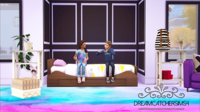 Sims 4 Alana Bed Set FIXED at DreamCatcherSims4