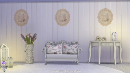 Sims 4 Charme anglais walls by Guardgian at Khany Sims