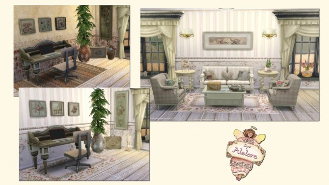 Sims 4 ROMANTIC COTTAGE DECOR at Alelore Sims Blog