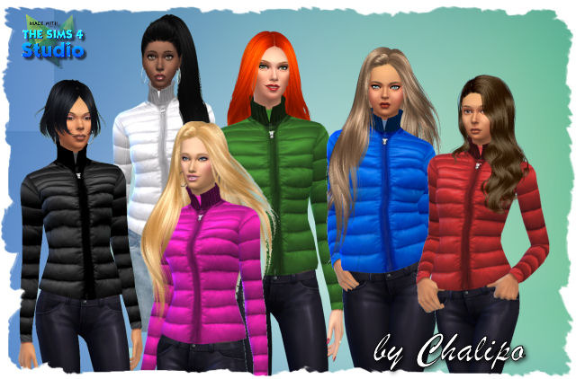Down Winter Jacket By Chalipo At All 4 Sims 187 Sims 4 Updates