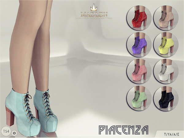 Sims 4 Madlen Piacenza Boots by MJ95 at TSR