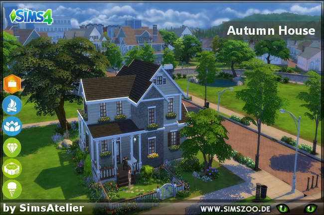 Sims 4 Autumn House by SimsAtelier at Blacky's Sims Zoo