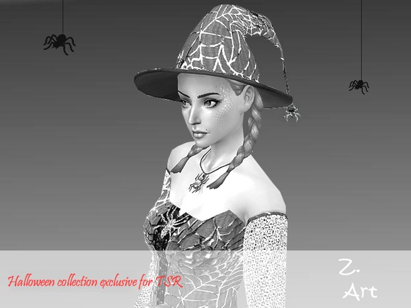 Cobweb Halloween set: costume, boots and hat by Zuckerschnute20 at TSR image 12106 Sims 4 Updates