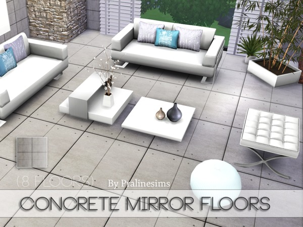 Concrete Mirror Floors by Pralinesims at TSR » Sims 4 Updates