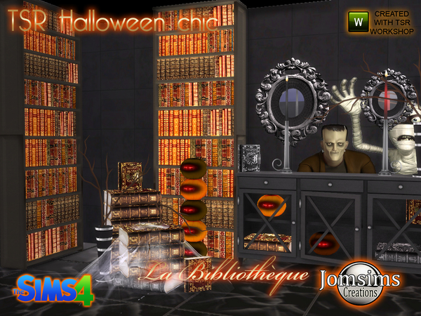 Tsr halloween chic set la bibliotheque by jomsims at TSR image 12109 Sims 4 Updates