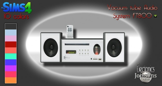 Sims 4 VACCUM tube Audio System FT800 at Jomsims Creations