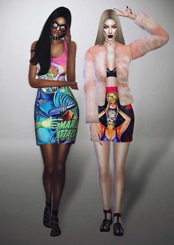 Mars Attacks Collection DRESS & SKIRT at Fashion Royalty Sims image 1225 670x944 Sims 4 Updates