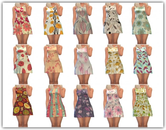 Sims 4 Beauty Fall Dress 30 styles at Maimouth Sims4
