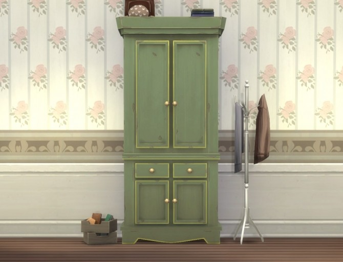 Country Armoire by plasticbox at Mod The Sims image 12312 670x511 Sims 4 Updates