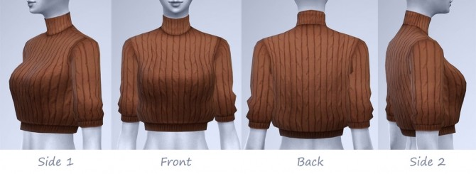 Sims 4 AUTUMN Cropped knit sweaters at manuea Pinny
