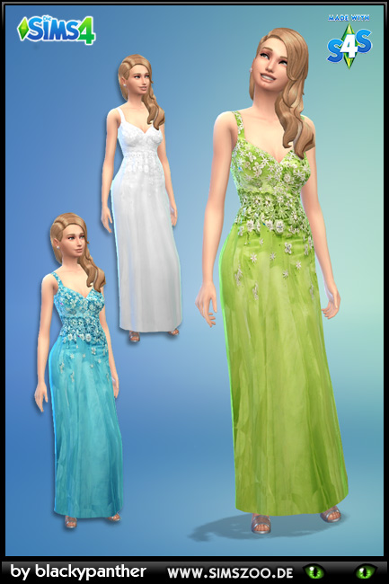 Evening Dress 52 by blackypanther at Blacky's Sims Zoo image 1259 Sims 4 Updates