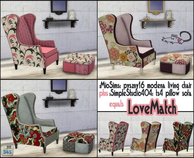 Chair And Pillow Sofa At Loverat Sims4 187 Sims 4 Updates
