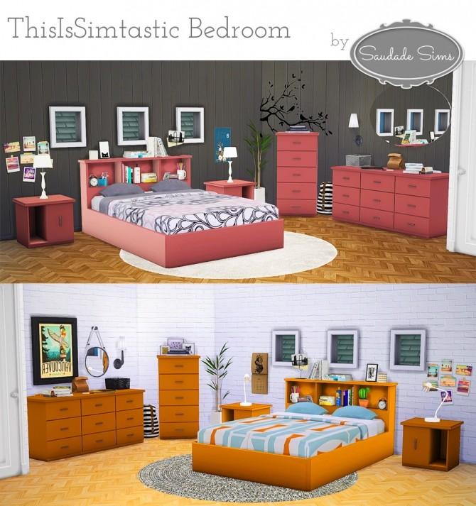 Sims 4 ThisIsSimtastic bedroom at Saudade Sims