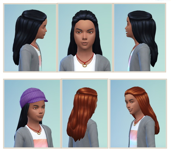 Sims 4 Halfup hair for Boys at Birksches Sims Blog