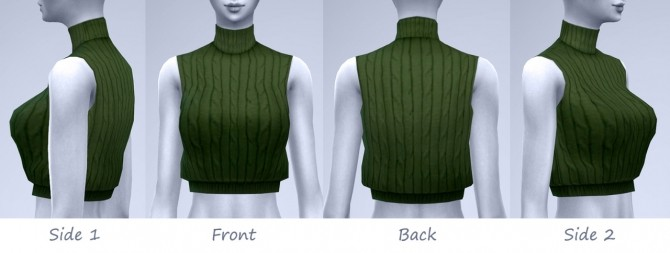 Sims 4 Autumn again Sleeveless cropped sweaters at manuea Pinny