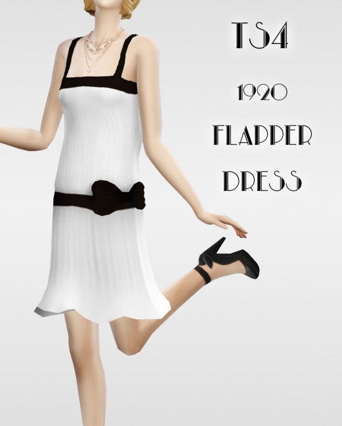 Lonelyboy 1920 Flapper dress 01 at Happy Life Sims image 1293 670x834 Sims 4 Updates