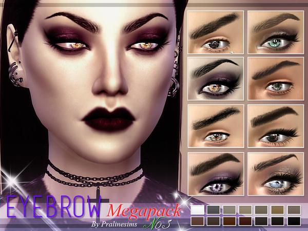 Sims 4 Eyebrow Megapack 3.0 by Pralinesims at TSR