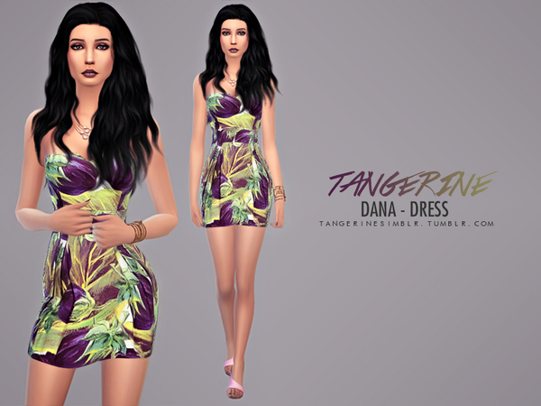 Sims 4 Dana dress by tangerine at Sims Fans