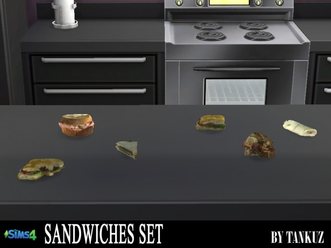 Sims 4 Sandwiches set at Tankuz Sims4