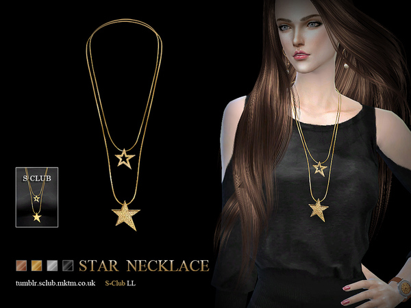 Necklace N05 by S Club LL at TSR image 1340 Sims 4 Updates