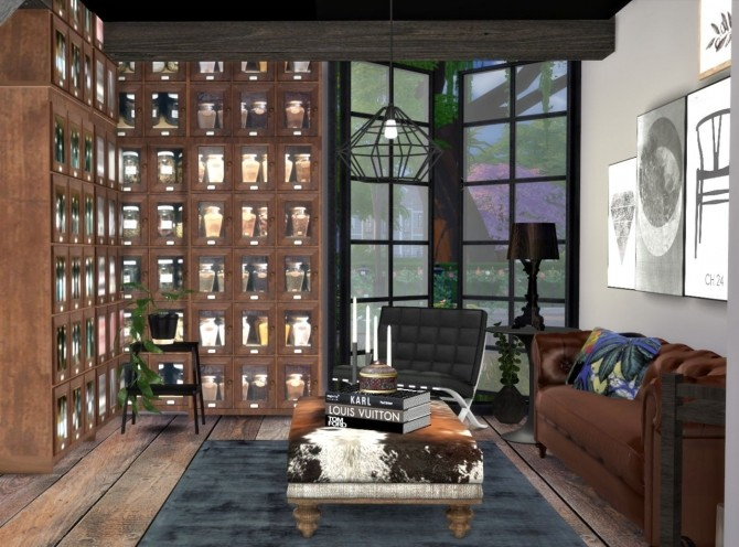 City living room interior at Hvikis. interior   Sims 4 Updates   best TS4 CC downloads