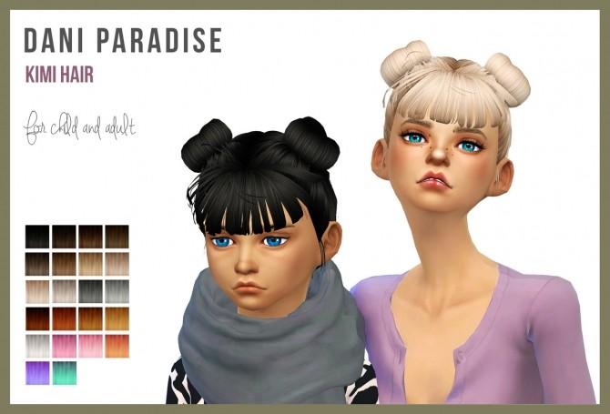 Sims 4 Kimi hair at Dani Paradise