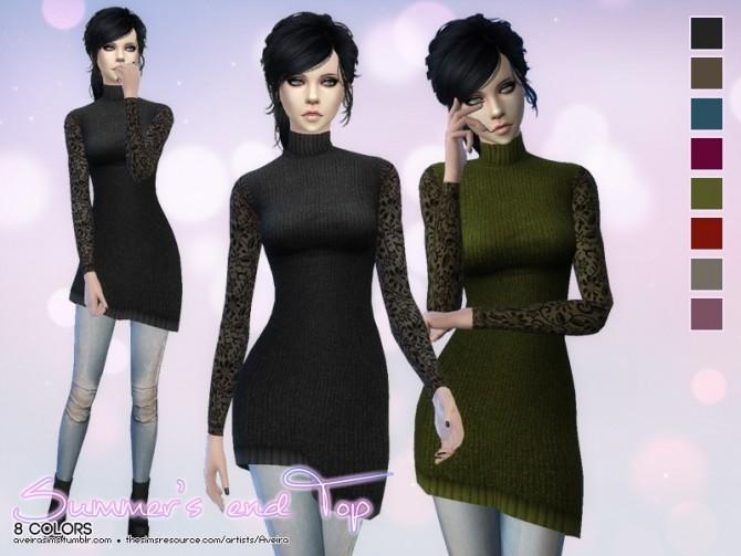 Sims 4 Summer's End top at Aveira Sims 4