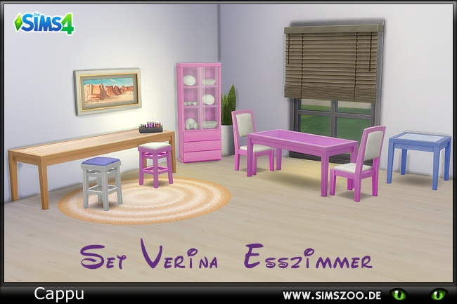 Sims 4 Set Verina dining by Cappu at Blacky's Sims Zoo