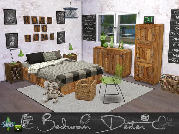 Bedroom Dexter by BuffSumm at TSR image 14212 Sims 4 Updates