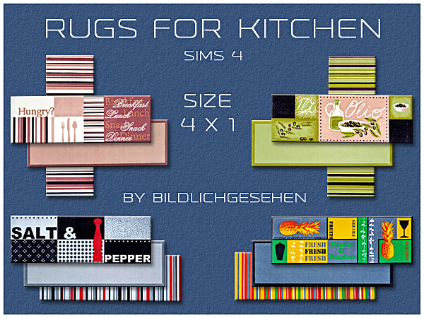Kitchen rugs in 2 sizes by Bildlichgesehen at Akisima image 14219 Sims 4 Updates