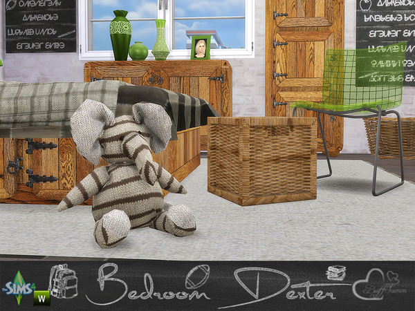 Bedroom Dexter by BuffSumm at TSR image 14310 Sims 4 Updates