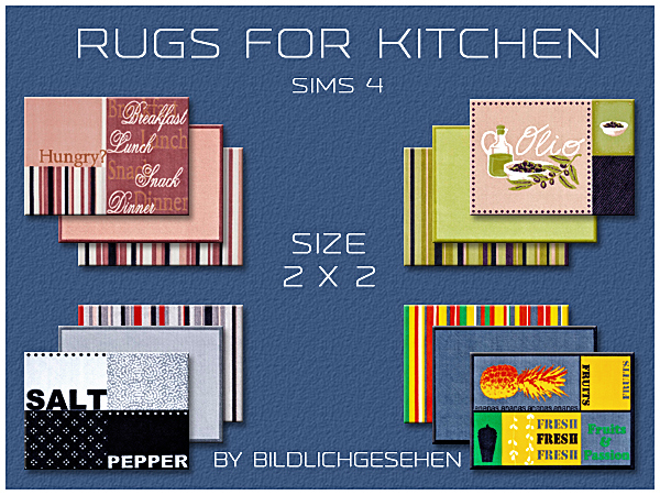Kitchen rugs in 2 sizes by Bildlichgesehen at Akisima image 14317 Sims 4 Updates